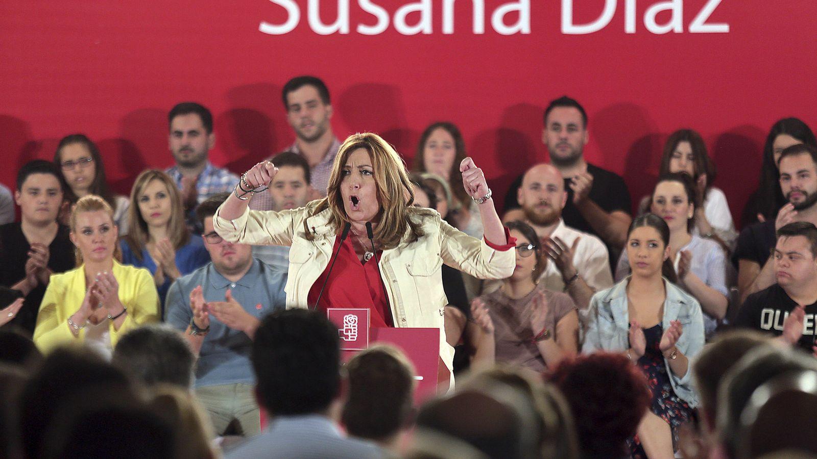 Foto: La presidenta de la Junta de Andalucía y candidata a la secretaría general del PSOE, Susana Díaz. (EFE)