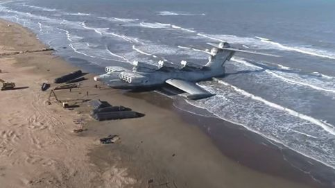Ekranoplano: el monstruo que vuela y navega se muere olvidado en una playa