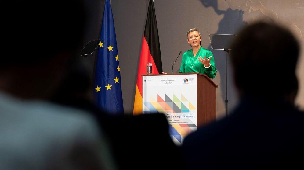 Foto: Margrethe Vestager, en rueda de prensa. (EFE)