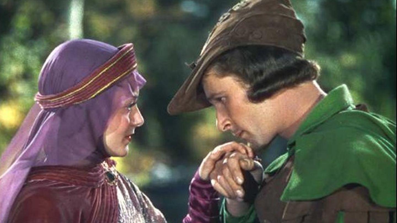 Errol Flynn y Olivia de Havilland en 'Robin de los bosques'. (Warner)