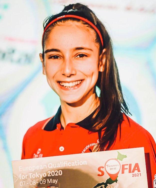 Foto: Adriana Cerezo, tras conseguir la clasificación a Tokio. (Fotografía cedida)