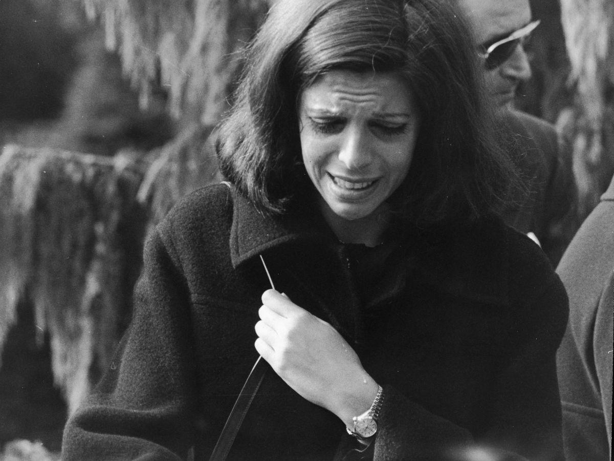 Foto:  Christina Onassis, en el funeral de su madre. (Getty)