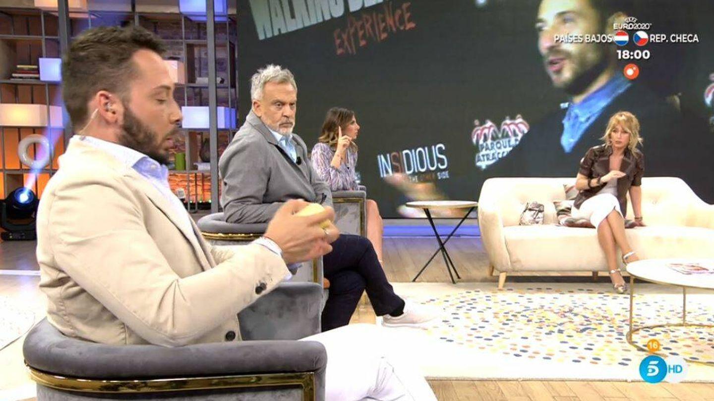 Emma García regaña a José Antonio Avilés en 'Viva la vida'. (Mediaset)