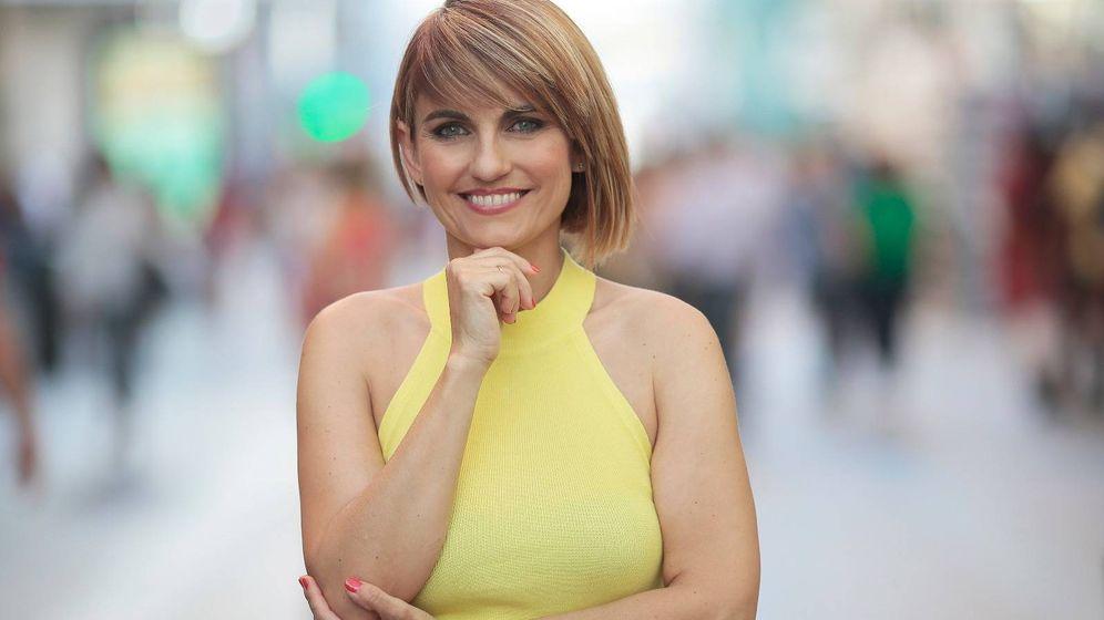 Foto: Lourdes Maldonado, presentadora de 'Telenoticias 1'. (Telemadrid)