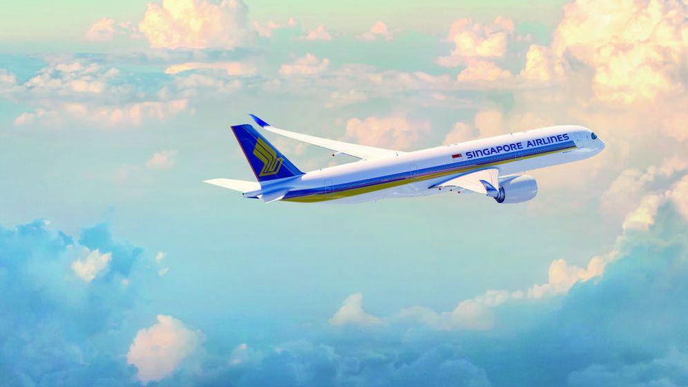 Foto: Un avión de la compañía Singapore Airlines.