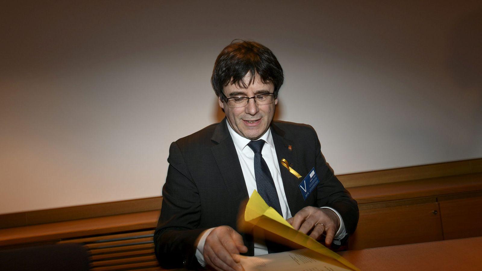Foto: Carles Puigdemont, en una foto de su estancia en Finlandia. (Reuters)