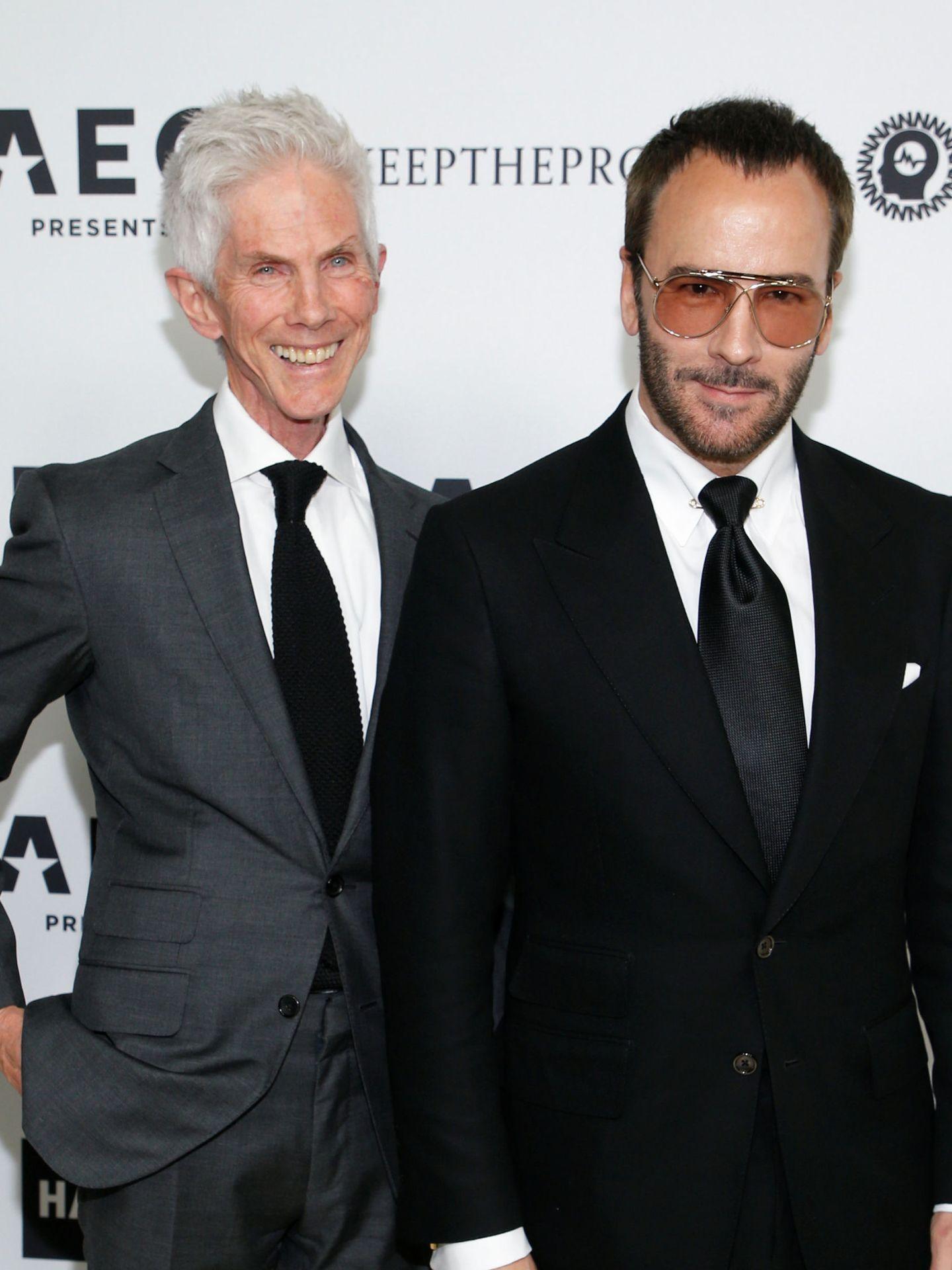 Tom Ford y su marido, en el 70 cumpleaños de Elton John. (Reuters)