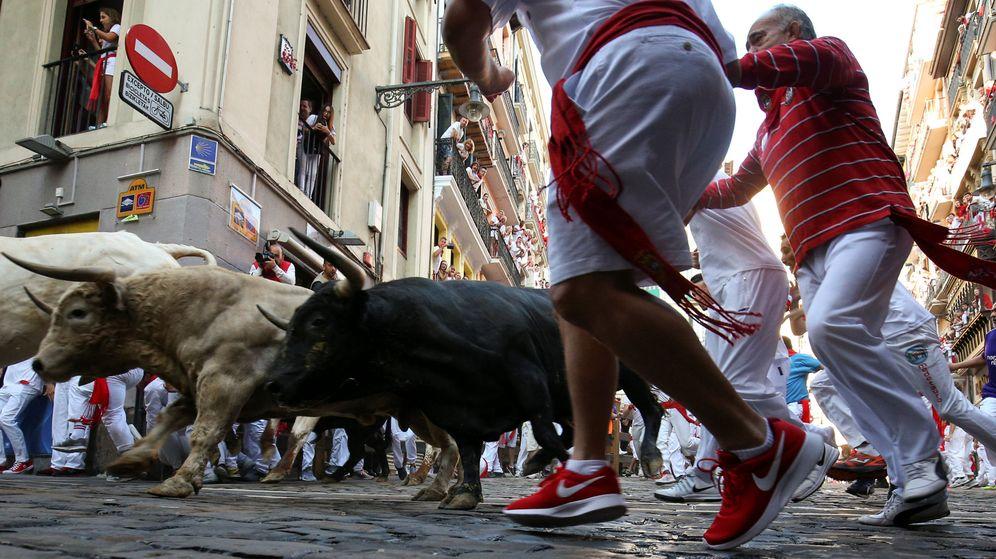 Foto: Encierro de San Fermín en Pamplona | REUTERS
