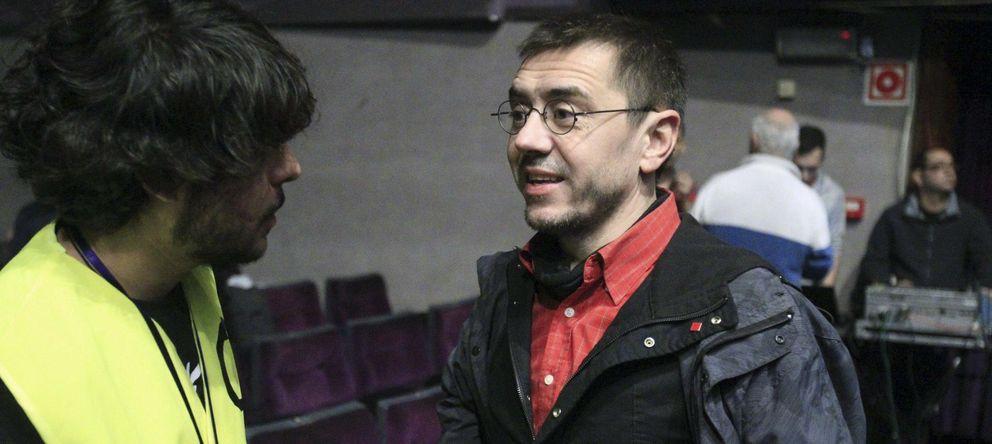 Foto: Juan Carlos Monedero, el pasado domingo, durante el cierre de campaña de Claro Que Podemos Madrid. (EFE)