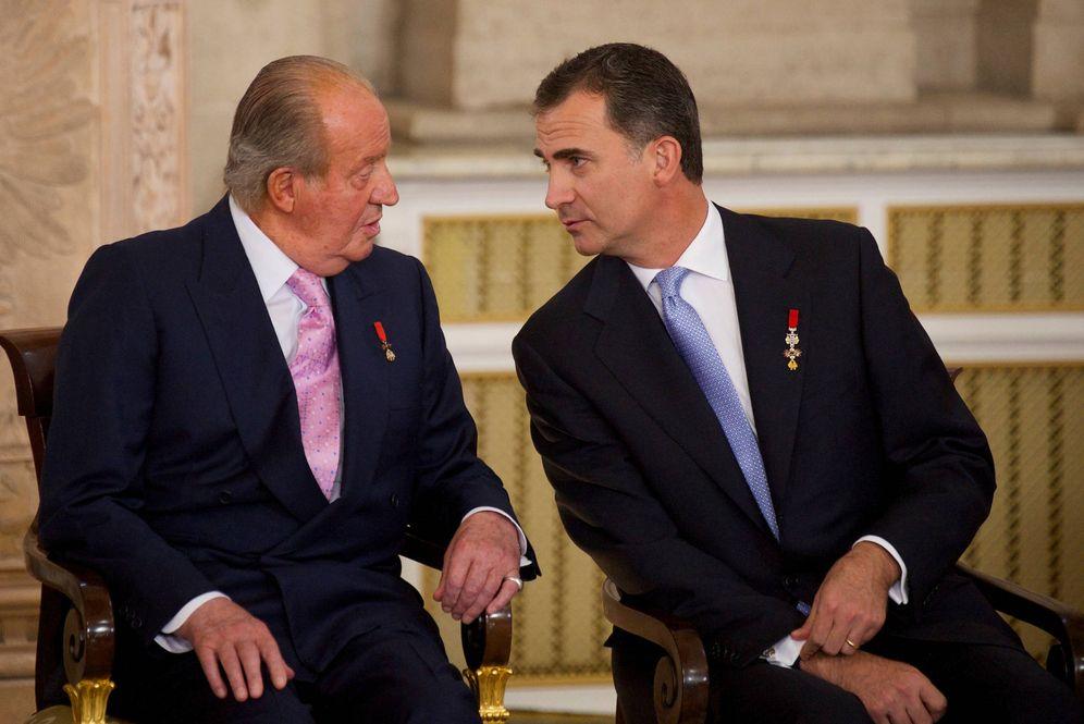 Foto: El rey Juan Carlos en la ceremonia de abdicación en su hijo Felipe, el 18 de junio de 2014 en el Palacio Real de Madrid. (Reuters)