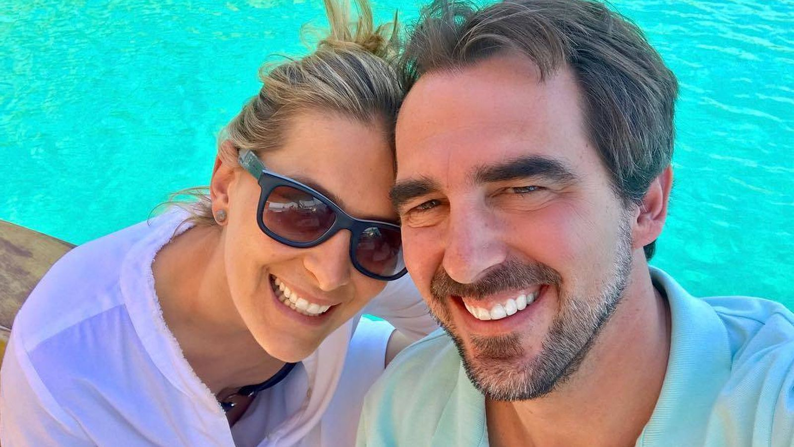 Foto:  Tatiana Blatnik, con su marido. (Instagram)