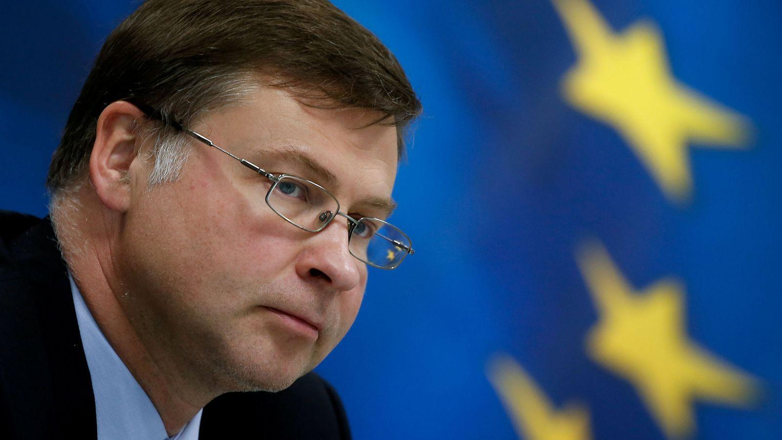 Foto: El vicepresidente de la Comisión Europea, Valdis Dombrovskis, en una foto de archivo. (Reuters)