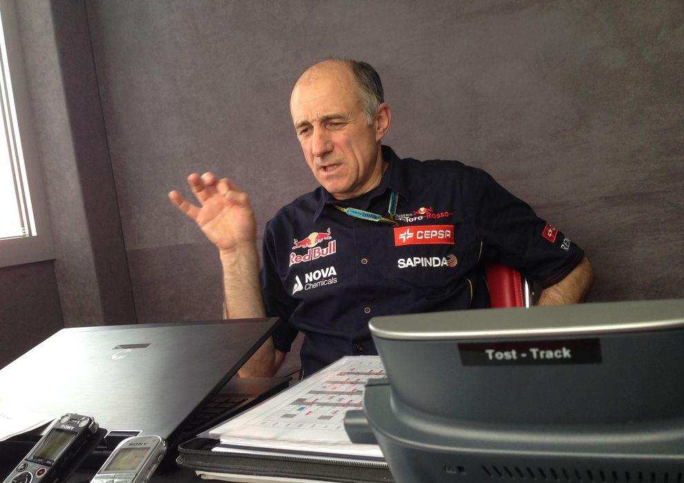 Foto: Franz Tost, durante la entrevista con 'El Confidencial'.