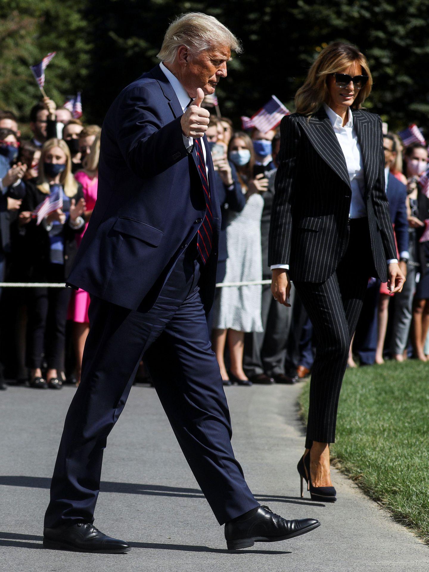 El presidente Donald Trump con Melania Trump. (Reuters)