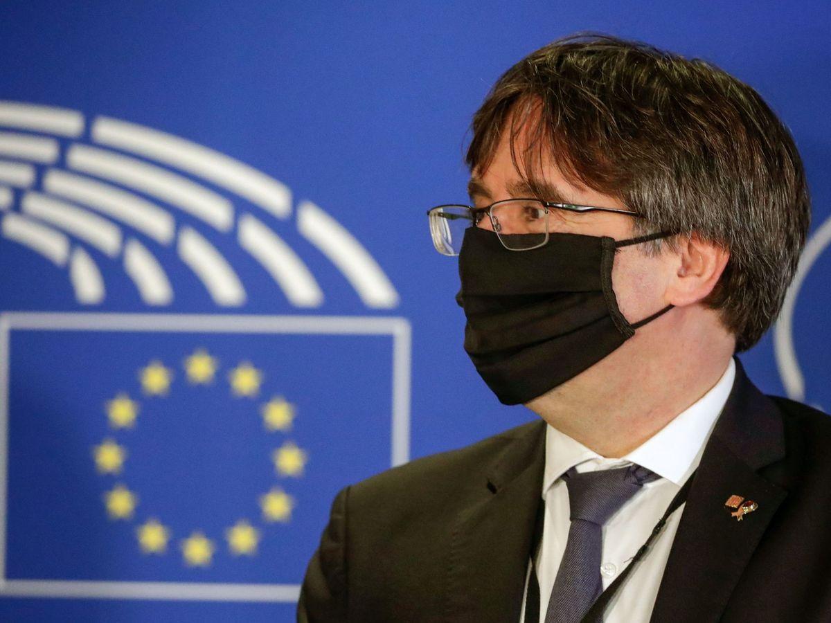 Foto: Carles Puigdemont en el Europarlamento. (EFE)