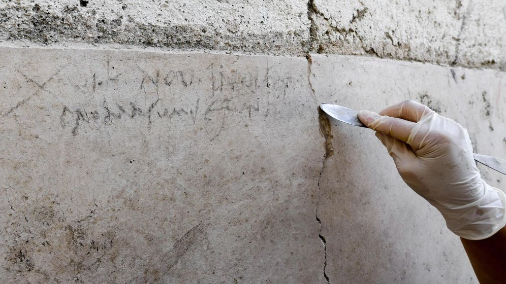 Foto: Encuentran inscripción que prueba que destrucción de pompeya fue en octubre (EFE/Ciro Fusco)