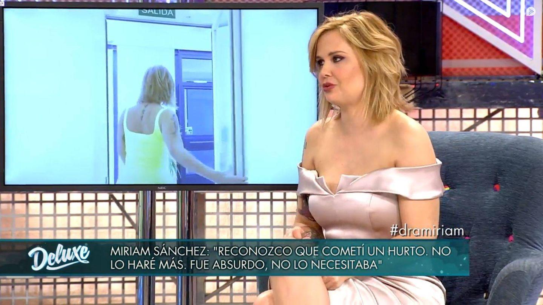 Miriam Sánchez en 'Sábado deluxe'. (Mediaset España)