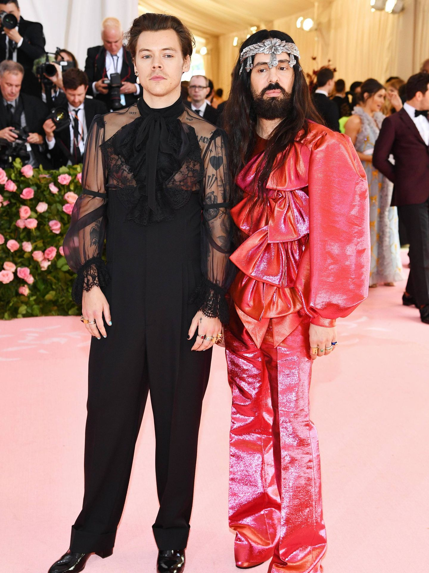 Harry Styles y Alessandro Michele. (Getty)