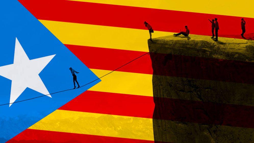 Foto: Independencia de Cataluña. (E. Villarino)