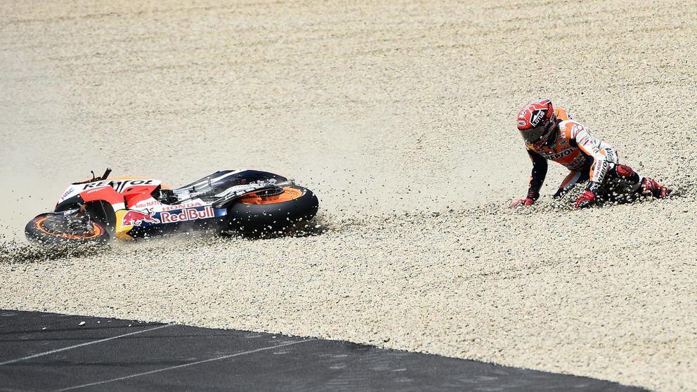 Márquez ya no se divierte  y busca una solución desesperada para la Honda