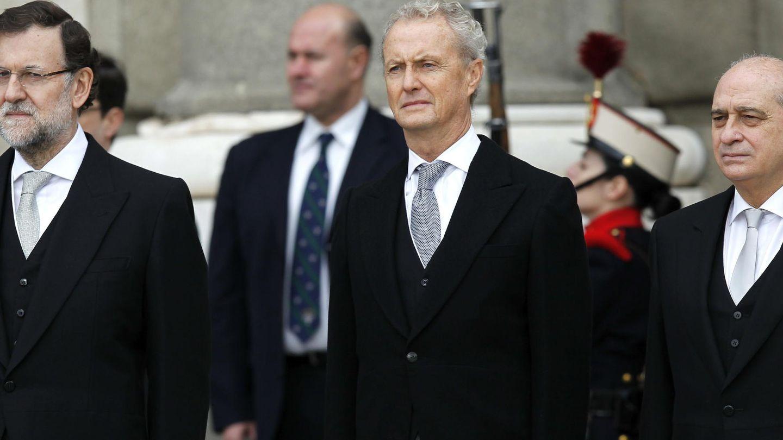 Mariano Rajoy, Pedro Morenés y Jorge Fernández Díaz (Efe)