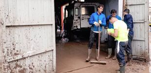 Post de Nadal participa en la limpieza de Sant Llorenç tras las lluvias de Mallorca