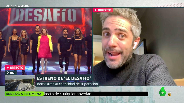 Roberto Leal, en conexión con Cristina Pardo. (Atresmedia)