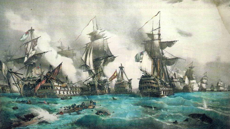 Batalla de Trafalgar, donde Nelson tuvo un papel principal. (CC/Wikimedia Commons)