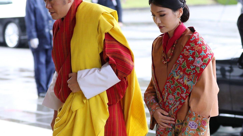 Los reyes de Bután, en una imagen de archivo. (EFE)
