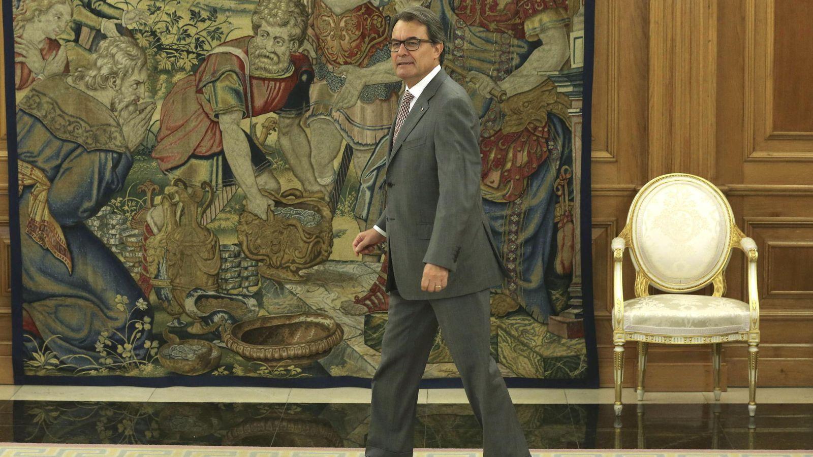 Foto: Artur Mas, en la audiencia con el Rey. (EFE)
