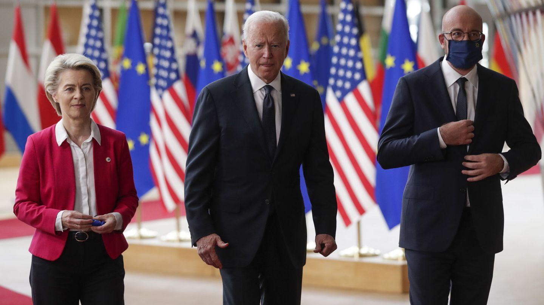 Biden, en Bruselas. (Reuters)