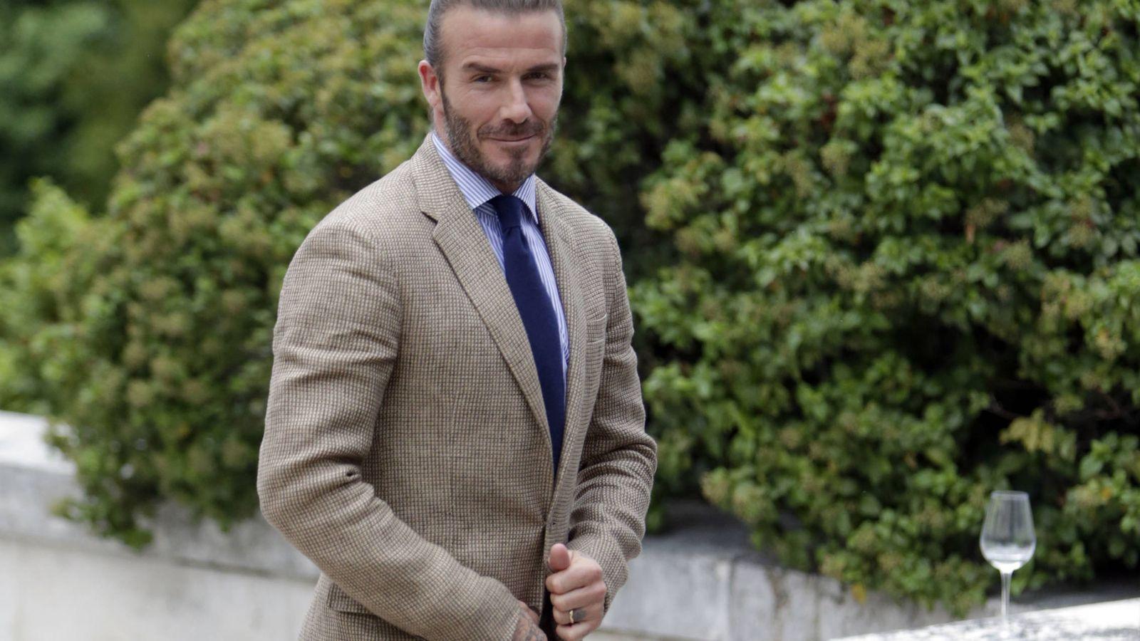 Foto:  David Beckham a su paso por Madrid. (Gtres)