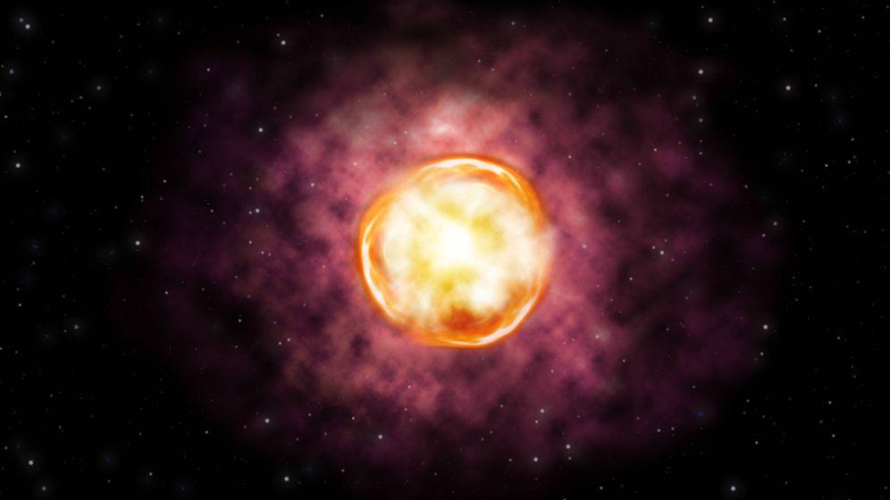 Foto: Supernova SN2016iet (Observatorio Gemini)