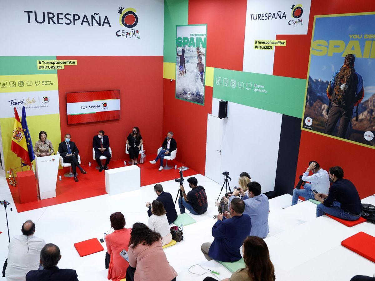 Foto: Acto de clausura de la Feria Internacional de Turismo Fitur 2021. (EFE)