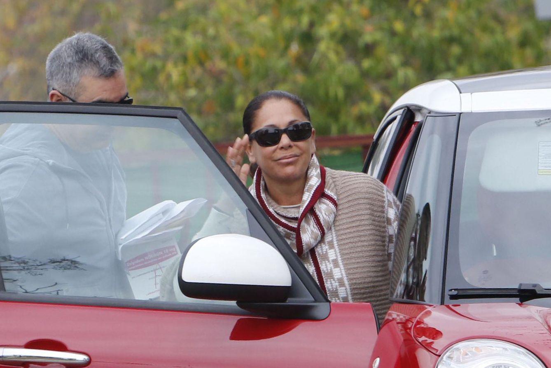 Foto: Isabel Pantoja a su salida de la cárcel este domingo (Gtres)