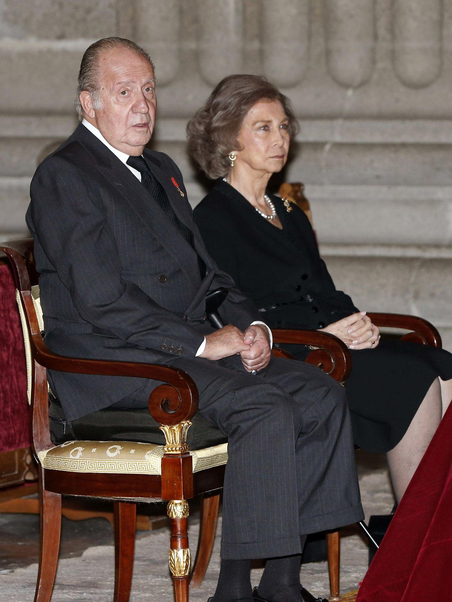 El rey Juan Carlos y la reina Sofía, en una imagen de archivo. (EFE)
