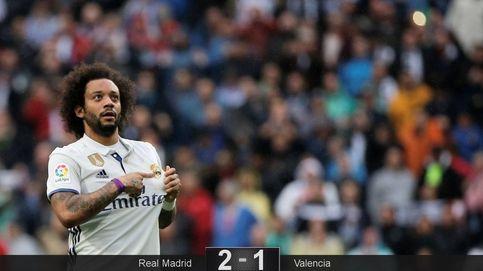 El Real Madrid juega con fuego, pero Marcelo evita que se queme