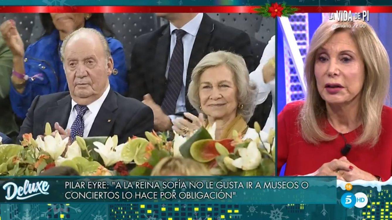 Pilar Eyre desvela en el 'Deluxe' la brutal amenaza de la reina Sofía a Juan Carlos I