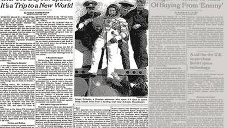 La edición de papel del 'New York Times' del 26 de marzo de 1992.