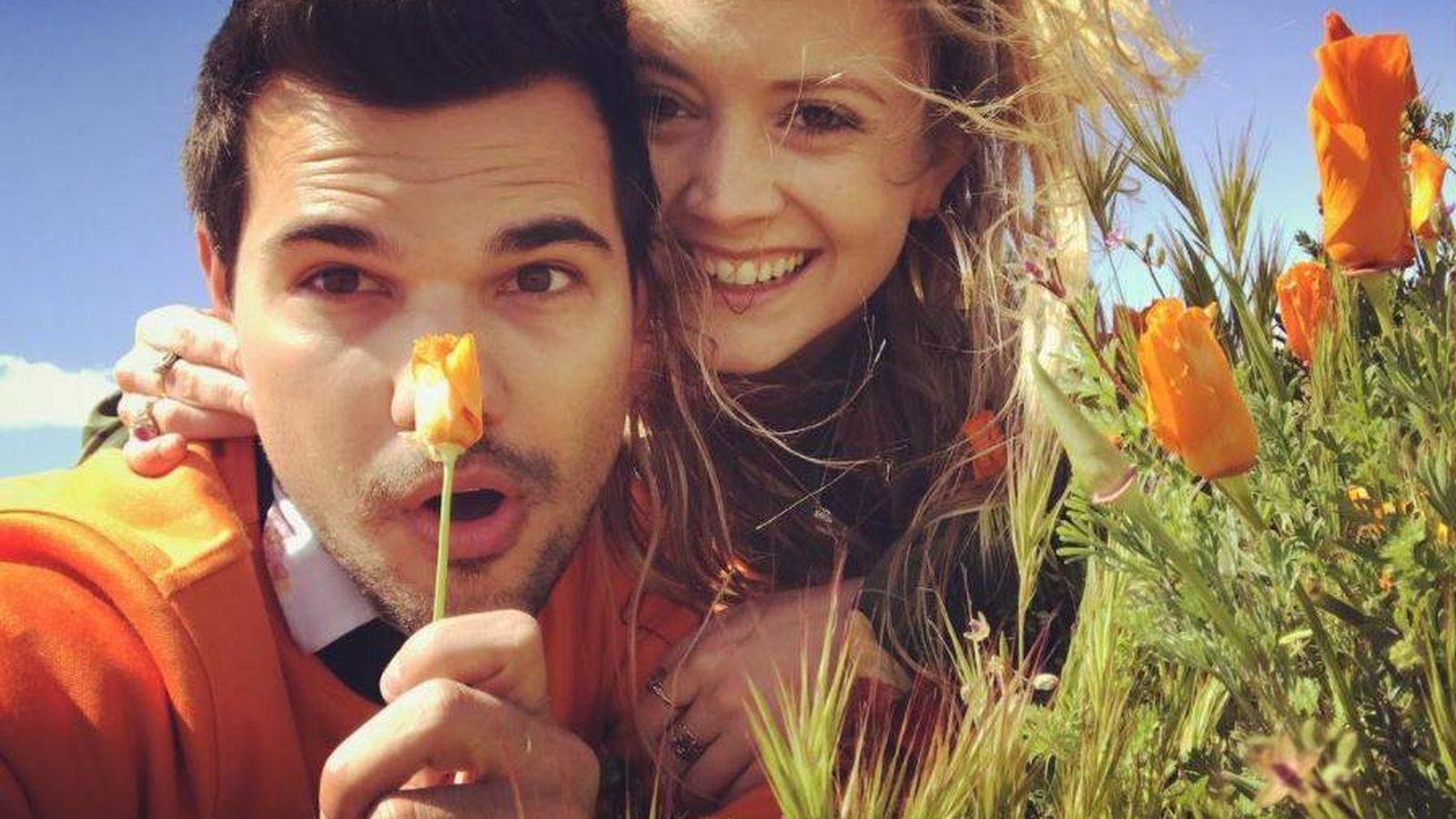 Foto: Taylor Lautner y Billie Lourd en una imagen de Instagram.