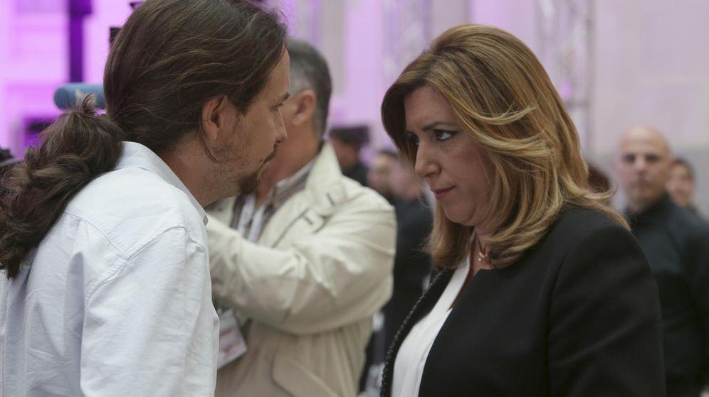 Foto: Pablo Iglesias y Susana Díaz.