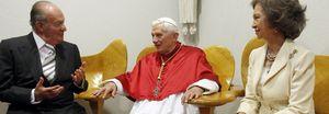 Foto: Los Reyes, doce minutos a solas con el Papa