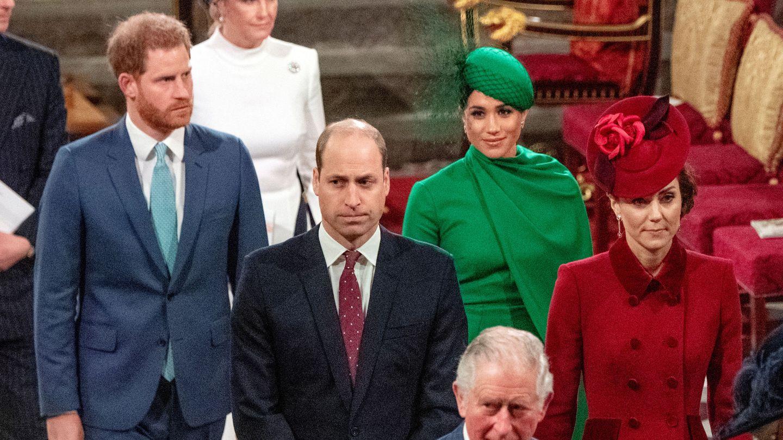 El príncipe Harry y Meghan Markle, en uno de sus últimos actos con la familia real británica. (Reuters)