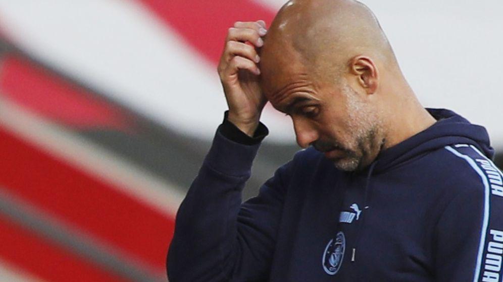 Foto: Pep Guardiola durante un partido con el Manchester City. (Efe)