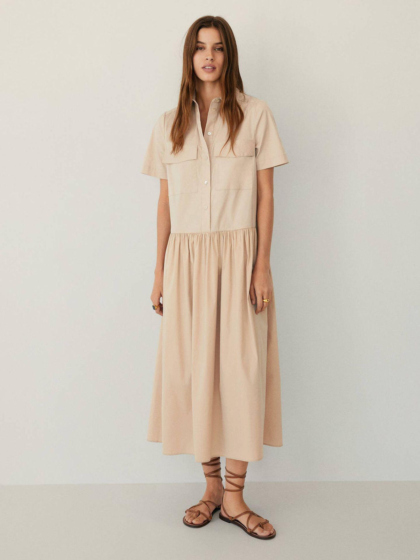 El fabuloso vestido veraniego de Mango Outlet. (Cortesía)