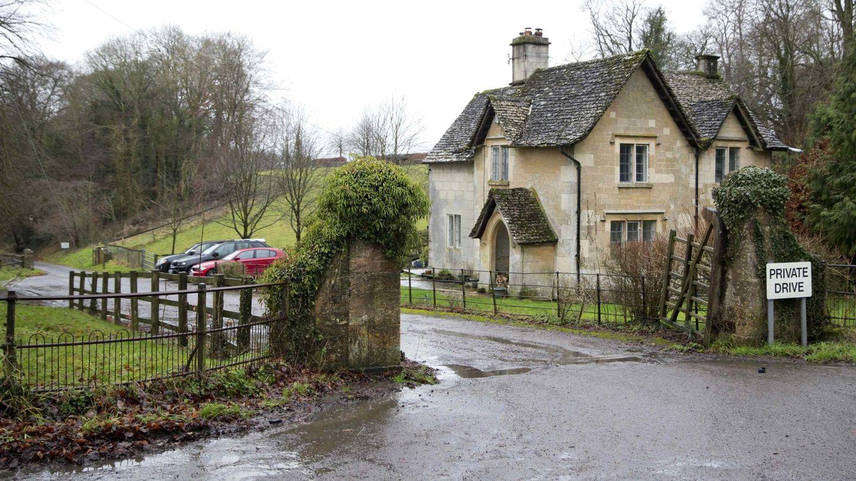 La entrada a Gatcombe Park . (Reuters)