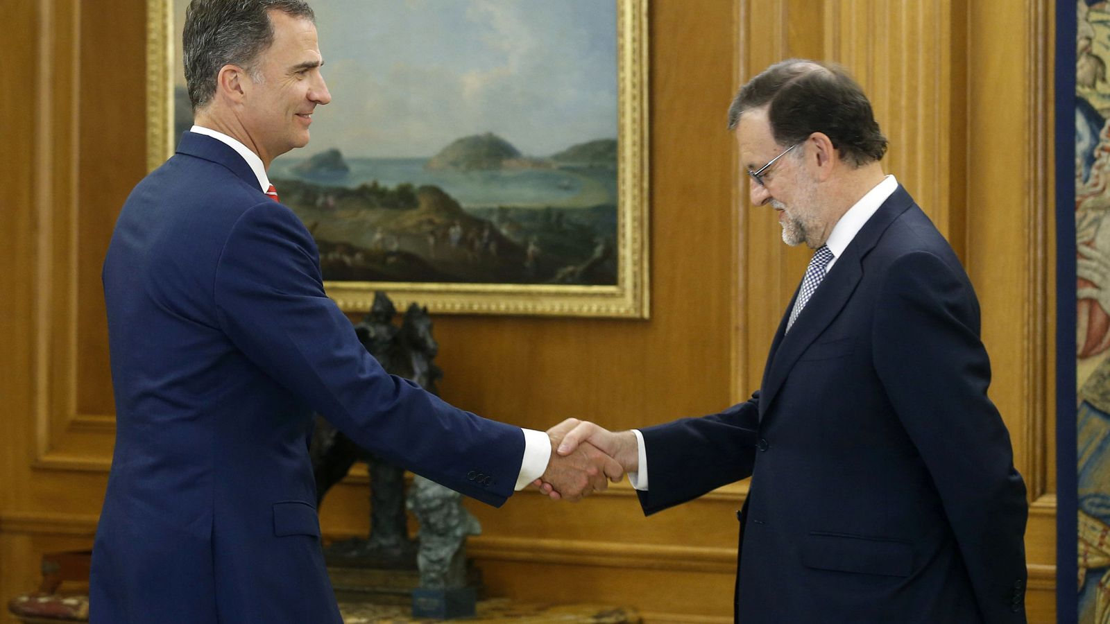 Foto:  El rey Felipe VI recibe al presidente del Gobierno en funciones, Mariano Rajoy. (Reuters)