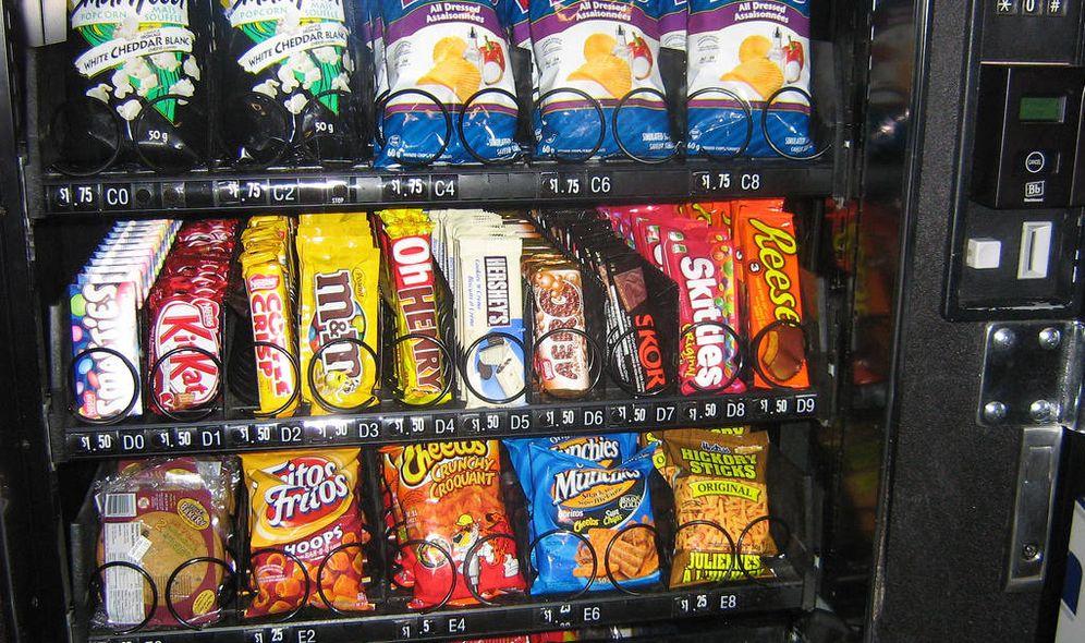 Foto: Máquina de 'vending' con diferentes snacks. (EC)