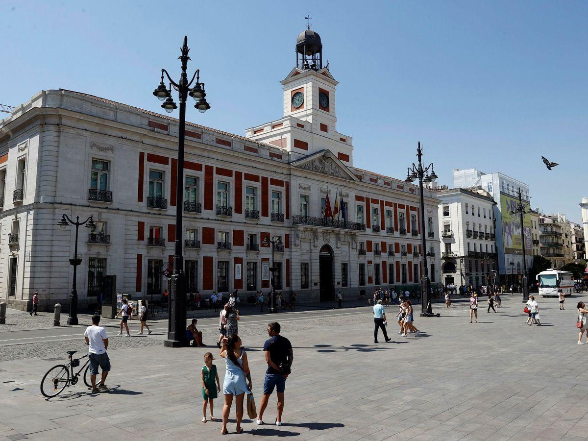 Foto: Imagen de la Real Casa de Correos, sede de la presidencia de la Comunidad. (EFE)