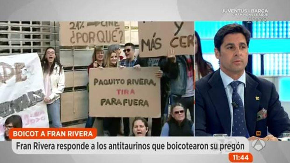 Fran Rivera carga de nuevo contra los antitaurinos, ahora por su higiene